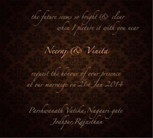 Neer wedding invite